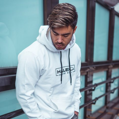 HALEO REAL PULL OVER HOODIE WHITE