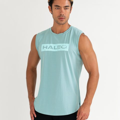 HALEO BOX LOGO SLEEVELESS GREEN