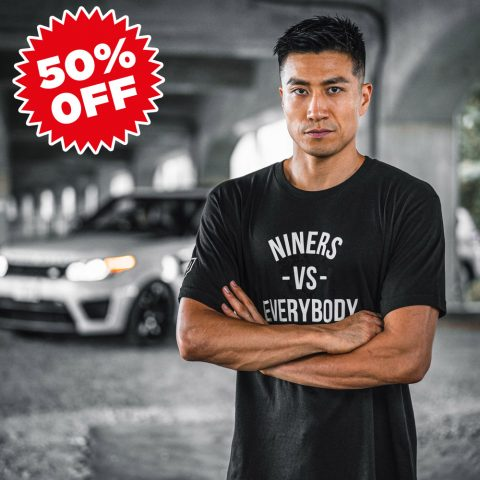 【SALE!50%OFF】HALEO NINERS VS TEE BLACK
